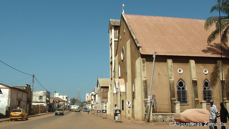 Churches of the region are quite small. This is the Cathedral of Bandjul, Gambia