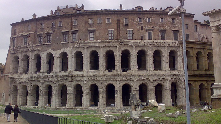 Medieval apartments, Roman theater