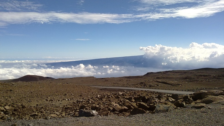 Mauna Kea above the clouds