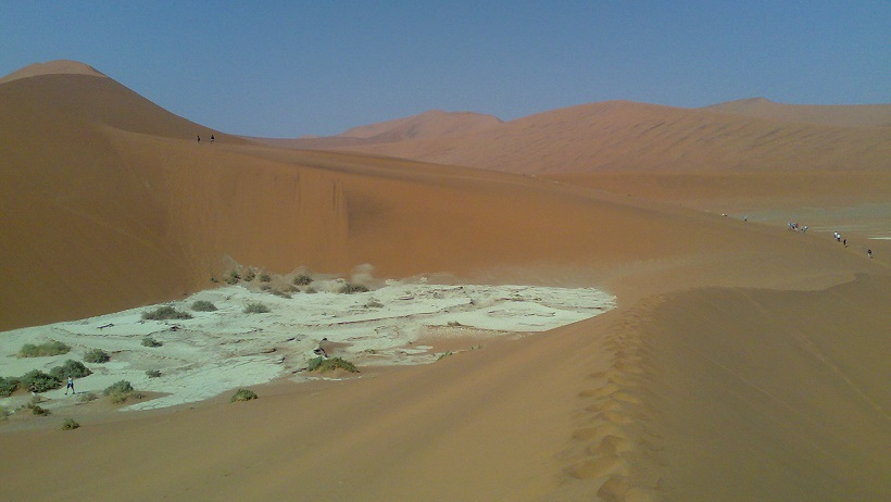 Sandy desert in Namibia
