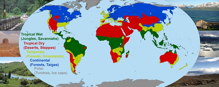 Climates Of The World Global Numud - Climate world map